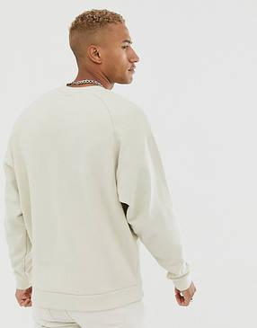 Кофта свитшот мужская Nike (Найк) Бежевая, фото 2