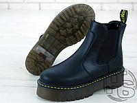 Женские ботинки Dr.Martens 2976 Platform Leather Chelsea Boots Black 24687001