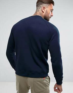 Кофта свитшот мужская Fila (Фила) темно-синяя трикотажная, фото 2