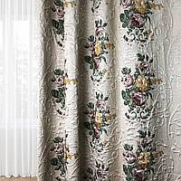 Шикарные шторы в классическом стиле. Ткань для штор ROSE col.1
