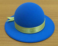 Футляр шляпка кольцо/серьги, голубая FU-8S