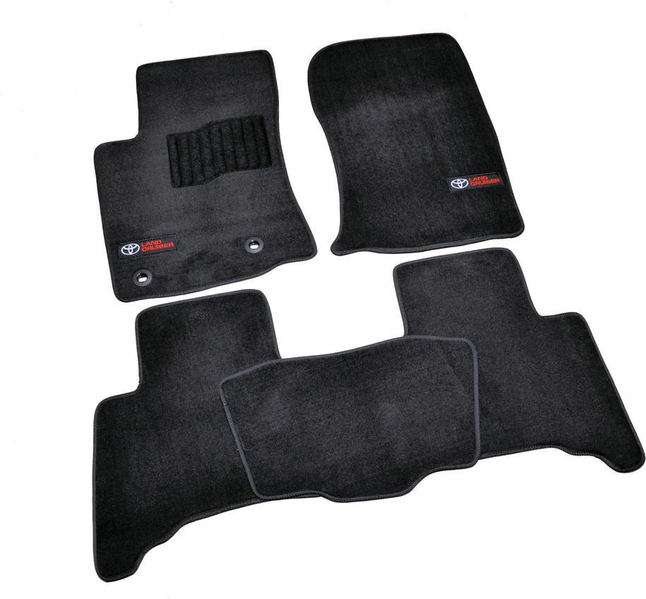 Килимки в салон ворсові для Toyota Land Prado 150 (2013-) 5 місць /Черн, Premium BLCLX1638