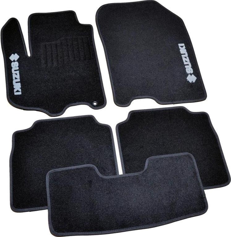 Коврики в салон ворсовые для Suzuki SX4 (2013-) /Чёрные 5шт BLCCR1599