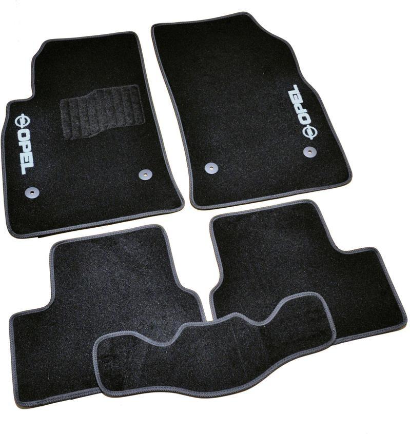 Коврики в салон ворсовые для Opel Astra J (2009-) /Чёрные 5шт BLCCR1441