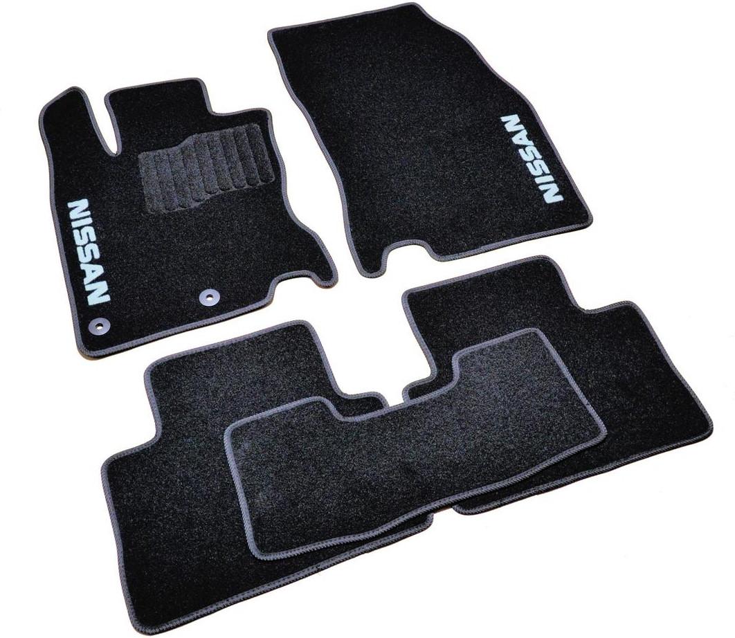 Коврики в салон ворсовые для Nissan Qashqai (2014-) /Чёрные, кт. 5шт BLCCR1425