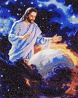 Алмазная мозаика алмазна вышивка икона на подрамнике, 40*50 см. Исус охраняет Мир ікона Ісус оберігає світ