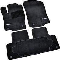 Килимки в салон ворсові для Mercedes ML/GL/GLE166 (2011-) Чорні Premium BLCLX1354