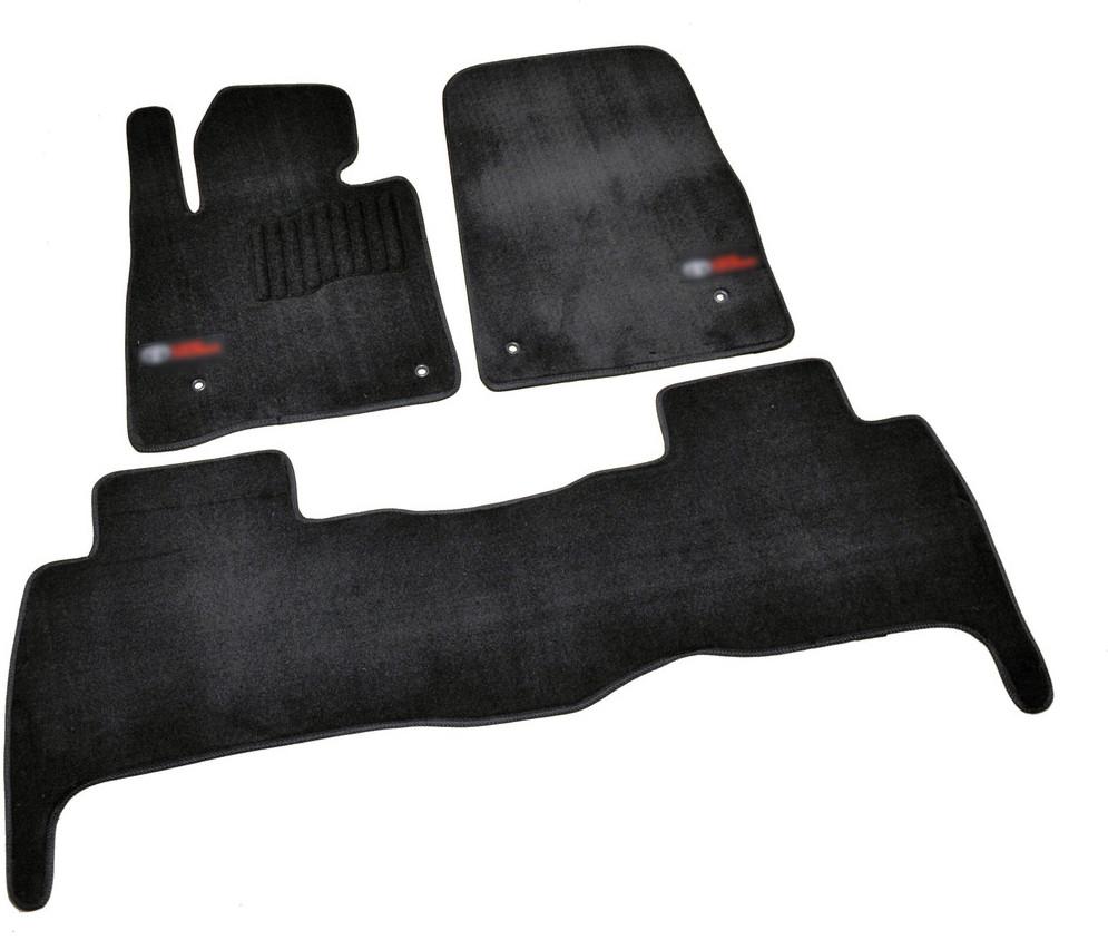 Коврики в салон ворсовые для Toyota Land Cruiser 200 (2007-2012) 5 мест /Чёрн, Premium BLCLX1634