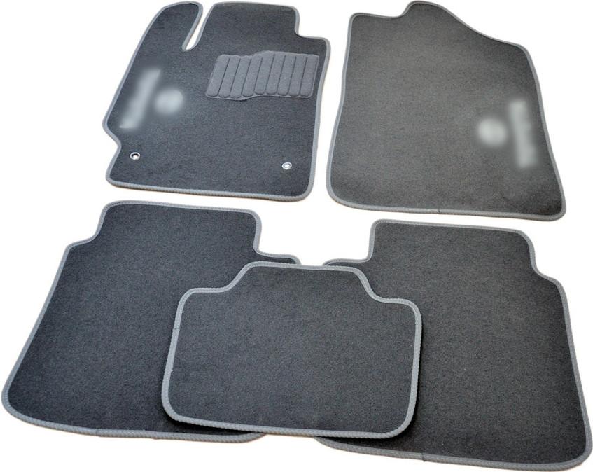 Коврики в салон ворсовые для Toyota Camry (2006-2011) /Серые 5шт