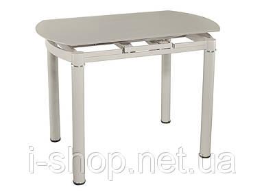 Стол кухонный раскладной стеклянный шампань сатин DAOSUN DT 8111