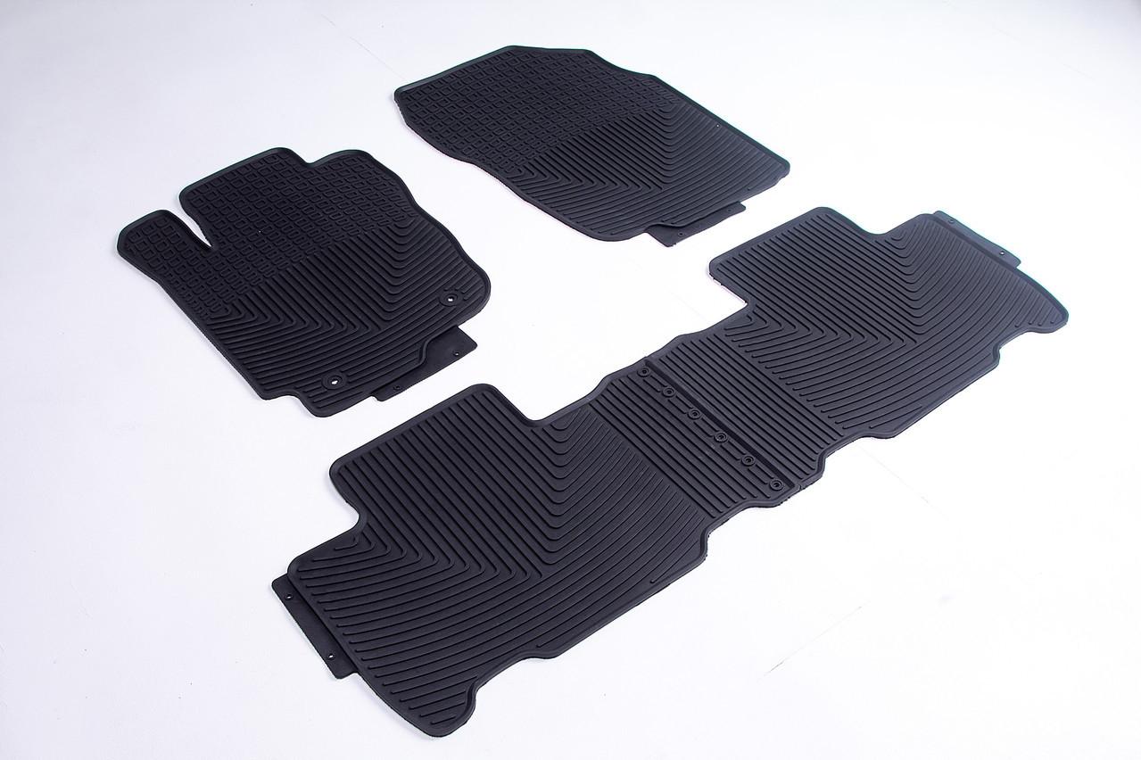 Коврики в салон для Toyota Rav4 2013-2019 черные кт 4шт.