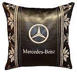 Подушка сувенирная с маркой авто мерседес Mercedes, фото 3