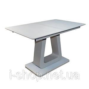 Стол обеденный раскладной стеклянный с МДФ шампань сатин DAOSUN DT 8104