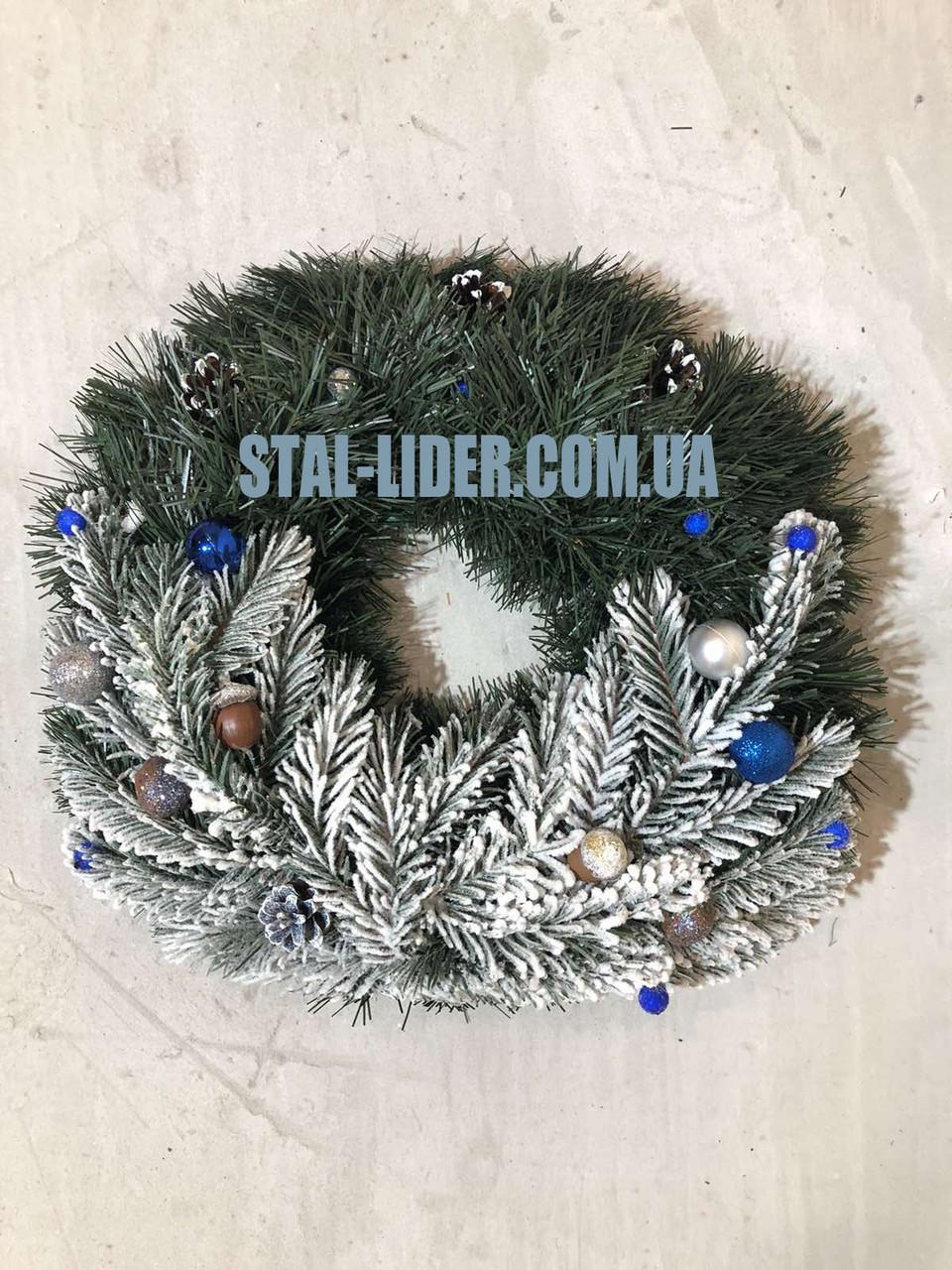 Венок новогодний рождественский d 35 см