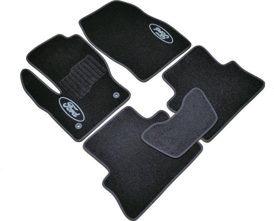 Коврики в салон ворсовые для Ford Kuga (2013-2019) /Чёрные, кт. 5шт BLCCR1157