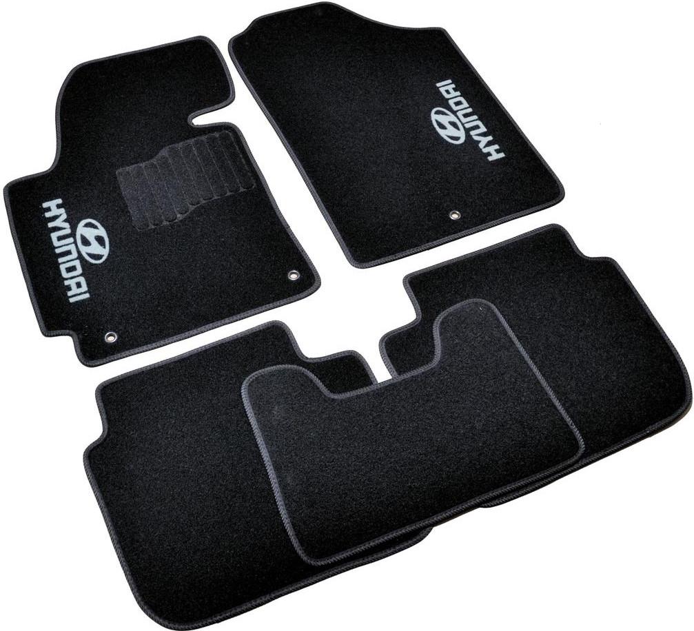 Коврики в салон ворсовые для Hyundai Elantra (2011-2015) /Чёрные, кт. 5шт BLCCR1219