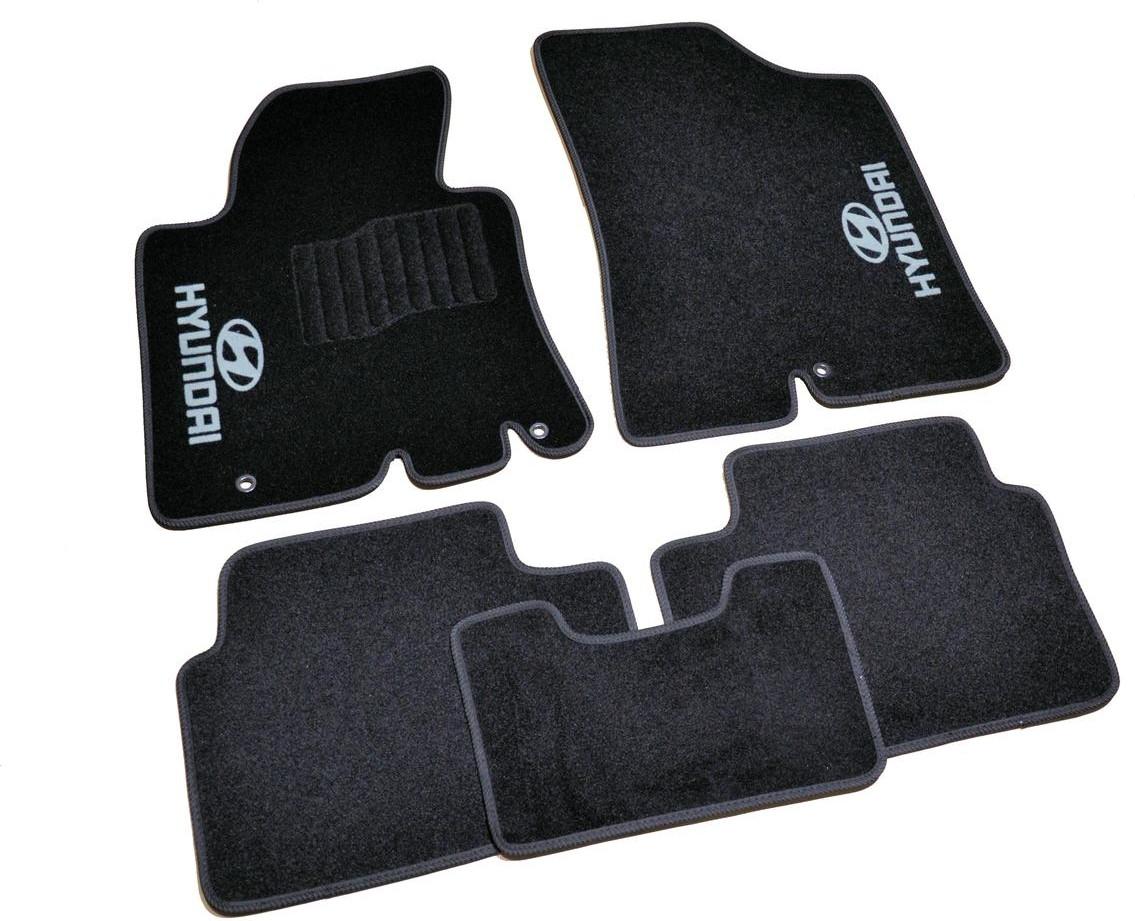 Коврики в салон ворсовые для Hyundai і30 (2012-) /Чёрные, кт 5шт BLCCR1227