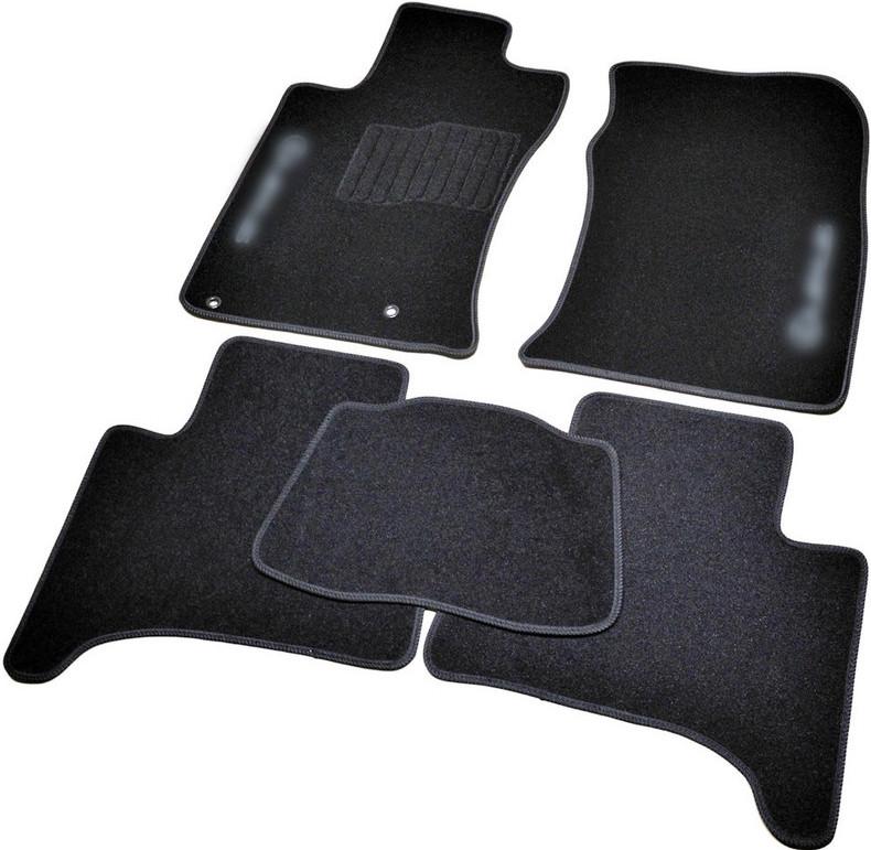 Коврики в салон ворсовые для Lexus GX470 (2002-2009) 5 мест /Чёрные BLCCR1293