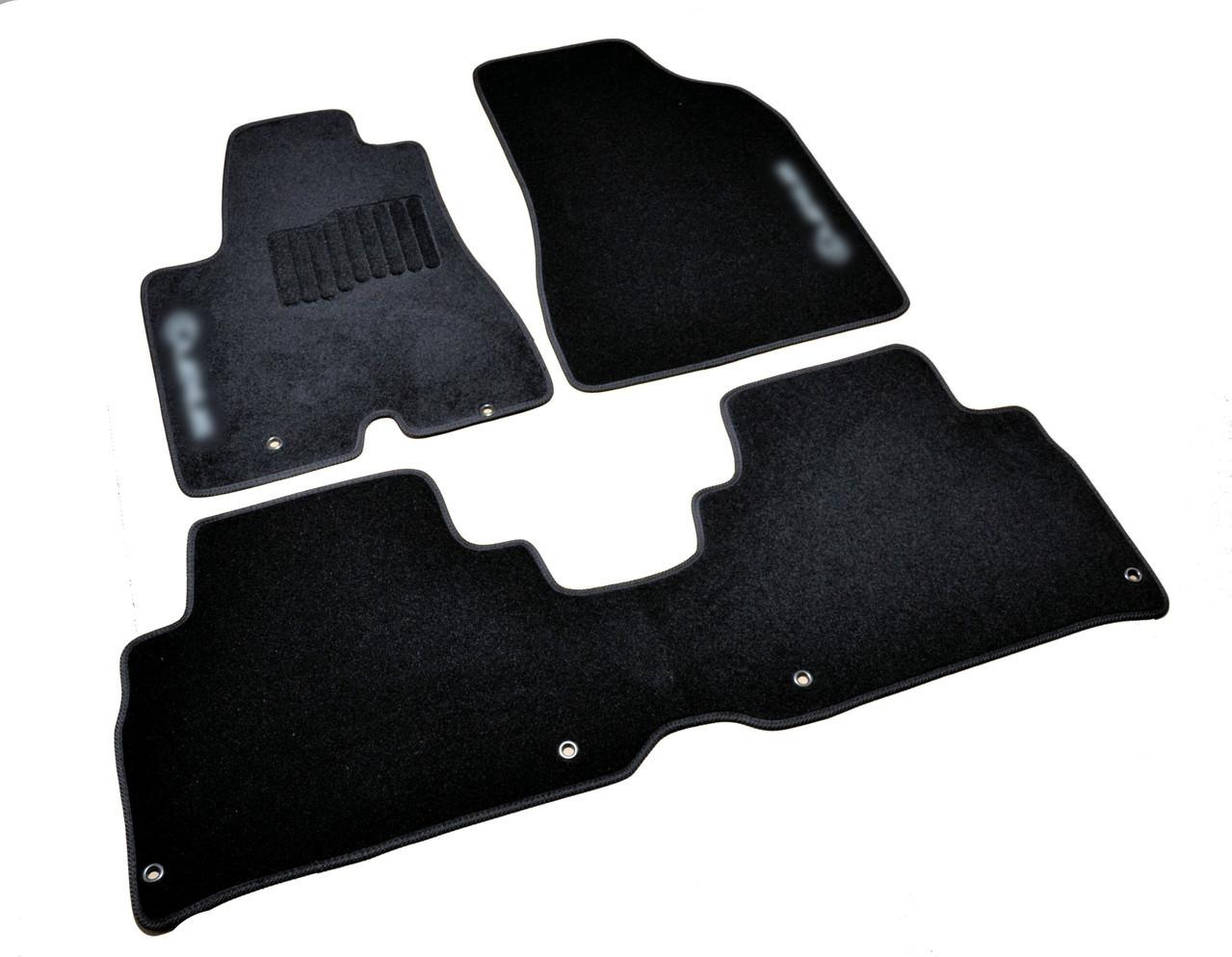 Коврики в салон ворсовые для Lexus RX (2003-2009) /Чёрные, кт. 3шт BLCCR1301