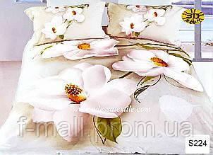 Комплект постельного белья ELWAY (Польша) 3D LUX Сатин Евро Подарочная упаковка (224)