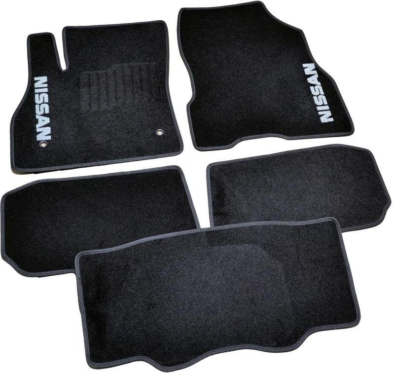 Коврики в салон ворсовые для Nissan Leaf (2010-) /Чёрные 5шт BLCCR1409