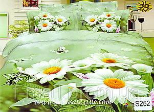 Комплект постельного белья ELWAY (Польша) 3D LUX Сатин Евро Подарочная упаковка (252)