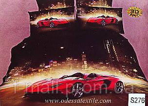 Комплект постельного белья ELWAY (Польша) 3D LUX Сатин Евро Подарочная упаковка (276)