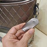 Классическая бронзовая женская сумочка из натуральной кожи, фото 3