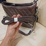 Классическая бронзовая женская сумочка из натуральной кожи, фото 6