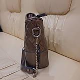 Классическая бронзовая женская сумочка из натуральной кожи, фото 7
