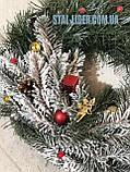 Венок новогодний рождественский d 35 см, фото 3