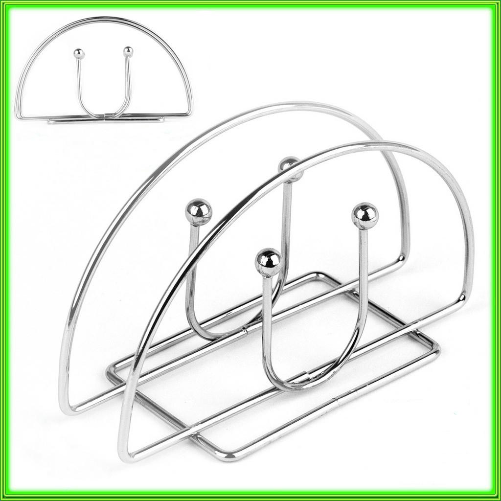 Металева підставка для серветок овальна 13,5*2,5*8см