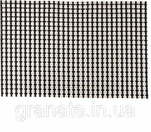Коврик сервировочный, цвет: серебристый-черный 450*300 мм