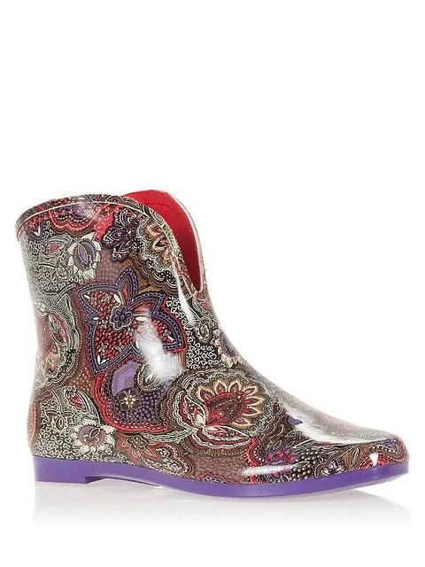 Женские резиновые сапоги   ботиночки Keddo (цветочный принт) - Интернет  магазин обуви Wikishoes в c46ebe70918