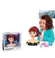 Анна из Холодного сердца - голова для причесок ABC кукла манекен голова