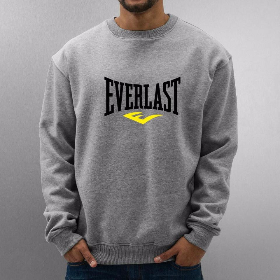 Мужская спортивная кофта (спортивный свитшот) Everlast, эверласт, серая (в стиле)