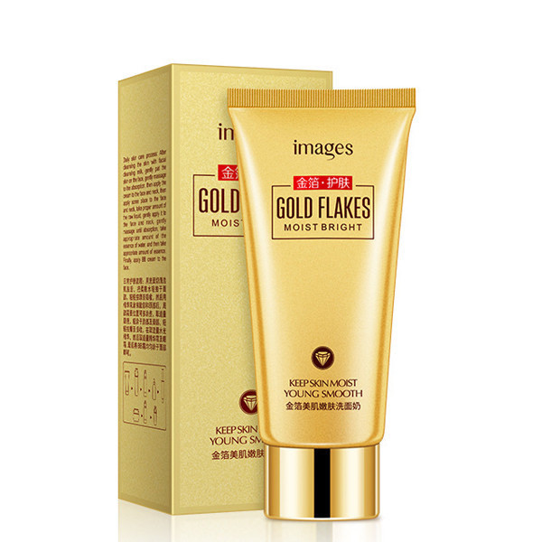 Пенка для умывания с частицами 24к золота Images Gold Flakes Cleanser 100гр