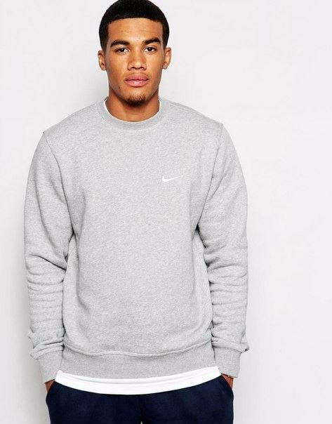 Мужская спортивная кофта (спортивный свитшот) Nike, найк, серая (в стиле)