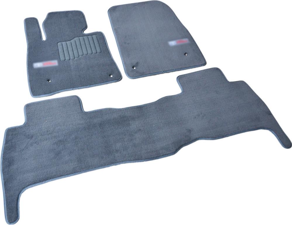 Коврики в салон ворсовые для Toyota Land Cruiser 200 (2007-2012) 5 мест /Серые, Premium GRLX1634