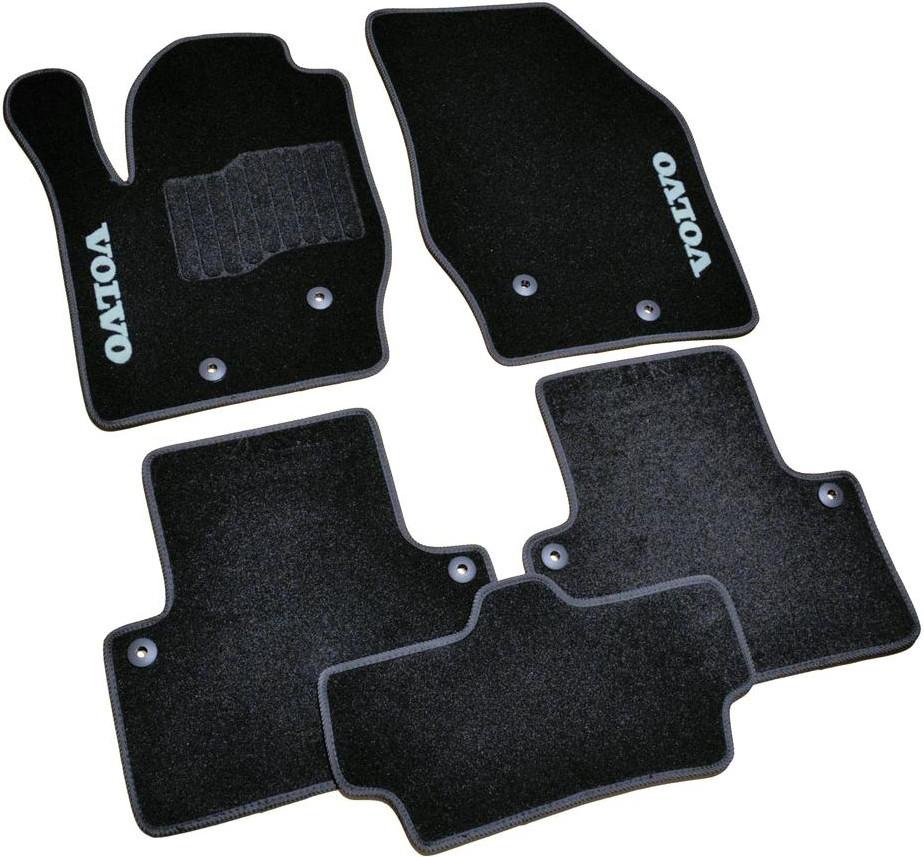 Коврики в салон ворсовые для Volvo XC90 (2002-2015) /Чёрные BLCCR1710