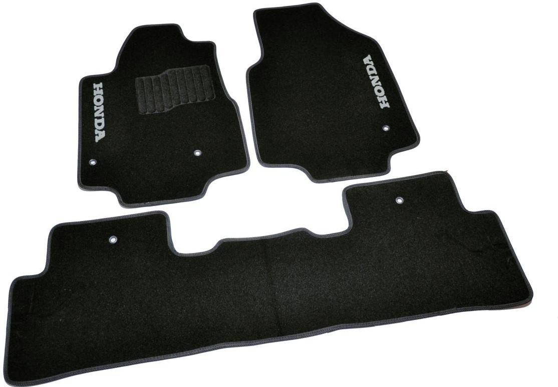 Коврики в салон ворсовые для Honda Pilot (2008-) 5 мест /Чёрные 5шт BLCCR1196