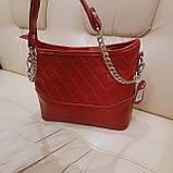Молодежная красная женская сумочка из натуральной кожи, фото 3