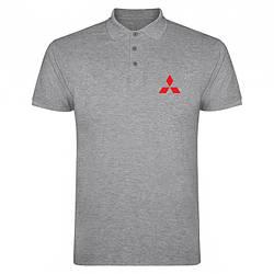 Поло Мицубиси (Mitsubishi) мужское, тенниска Мицубиси, мужская футболка Мицубиси, Турецкий хлопок, копия
