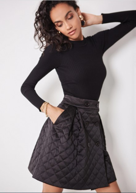 стеганая юбка купить