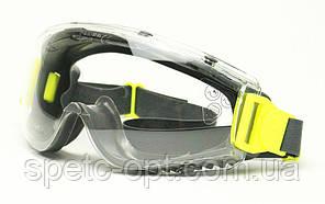 Очки защитные, закрытые Delta Plus Sajama с защитой от брызг, царапин и запотевания.