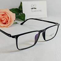 Стильные мужские имиджевые+ компьютерные очки в глянцевой оправе