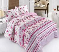 Покрывало с наволочками Eponj Home Lena розовое 160*220