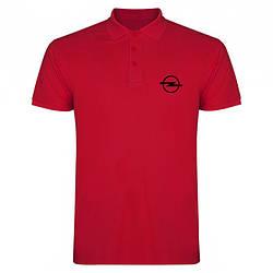Поло Опель (Opel) мужское, тенниска Опель, мужская футболка Опель, Турецкий хлопок, копия