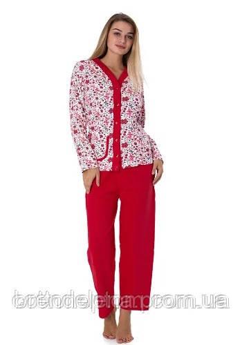 Пижама женская на байке KSM  (р42-50)