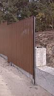 Заборы из профнастила устройство монтаж
